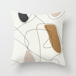 Thin Flow II Throw Pillow