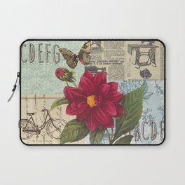 Ride with a Butterly and a Flower Laptop Sleeve