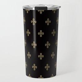 Pom Pom - Black Travel Mug