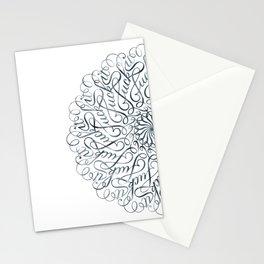Mandala • Fuck it • grey Stationery Cards