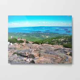 View of Bar Harbor, Maine from Cadillac Mountain (2) Metal Print