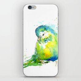 Budgie Series - IV Blue/Green iPhone Skin