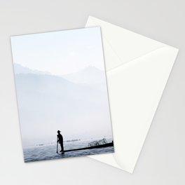 Fisherman in Myanmar Stationery Cards