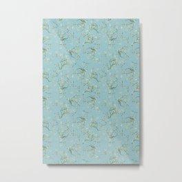 Original Van Gogh Almond Blossoms - Seamless Pattern Metal Print