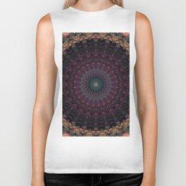 Mandala in dark red and brown tones Biker Tank