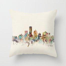 milwaukee wisconsin skyline Throw Pillow