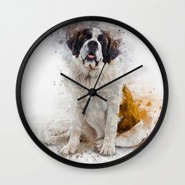 St Bernard Wall Clock