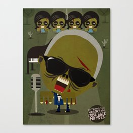 Ray Charles Zombie Canvas Print