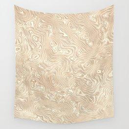 Butterscotch Silk Moire Pattern Wall Tapestry