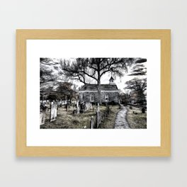Sleepy Hollow Church Art Framed Art Print