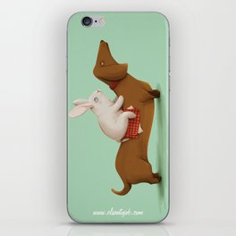 DachshundRace iPhone Skin
