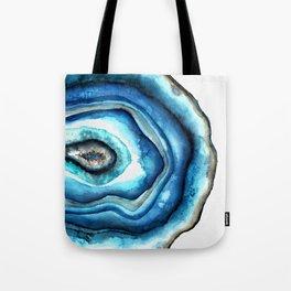 Agate stone in watercolor Tote Bag
