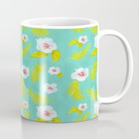 hibiscus Mugs featuring Hibiscus by Maya Bee Illustrations
