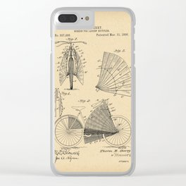 1896 Patent Bicycle - SCREEN FOR LADIES BICYCLES Clear iPhone Case