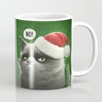 grumpy Mugs featuring Grumpy Xmas by Dr. Lukas Brezak
