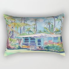 Kauai Blue Cottage 2 Rectangular Pillow