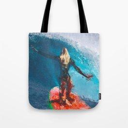 Brave Surfer Tote Bag