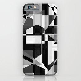 Black and white glitch iPhone Case
