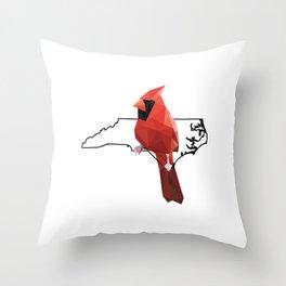 North Carolina – Northern Cardinal Throw Pillow