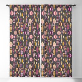 Retro Christmas Ornaments and Candies Blackout Curtain