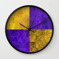 lakers Wall Clocks featuring LA-kers by Ramo