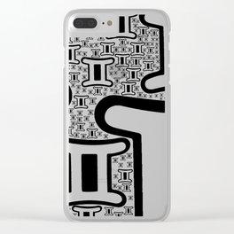 Gemini Zodiac doodle Clear iPhone Case