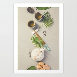Asian food background Art Print