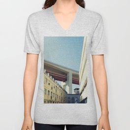 Lisboa Under The Bridge Unisex V-Neck