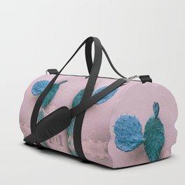 Cactus and pink wall Duffle Bag