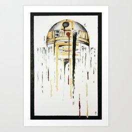 Sand & Gold 2 (Boop Beep Boop) Art Print