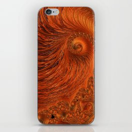 Orange Lily Fractal iPhone Skin