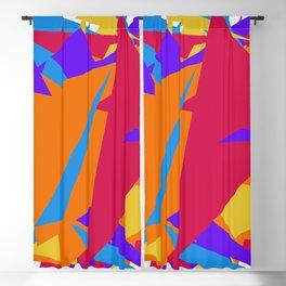 Crzy Modern Triangles - Old Rose, Tahiti Gold, Cornflower Blue Blackout Curtain