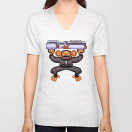Baron the Boss Pixel Art Unisex V-Neck