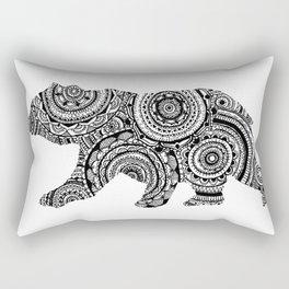 Mandala Bear Rectangular Pillow