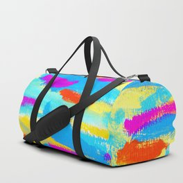 FLY - Colorful Modern Abstract Painting Brushstroke pattern Duffle Bag