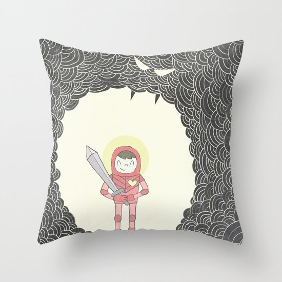 Strong Warrior Throw Pillow