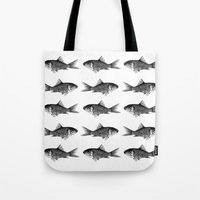goldfish Tote Bags featuring Goldfish by Meredith Mackworth-Praed