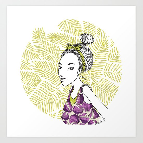 """Prune"" girl in Thailand Art Print"