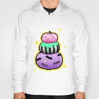 pastel goth Hoodies featuring Pastel Goth Pumpkin Stack by MagicCircle