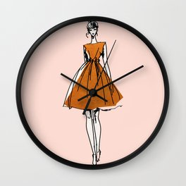 Little Copper Dress Wall Clock
