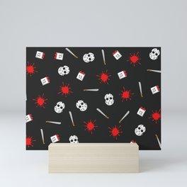 Friday the 13th pattern Mini Art Print