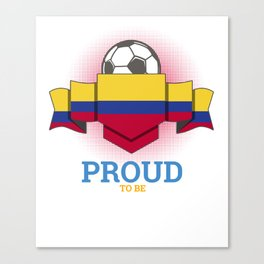 Football Colombians Colombia Soccer Team Sports Footballer Goalie Rugby Gift Canvas Print