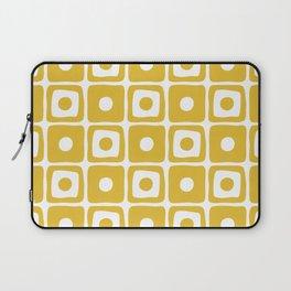 Mid Century Square Dot Pattern Mustard Yellow Laptop Sleeve