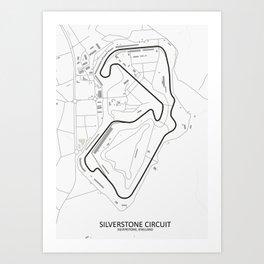 Silverstone Circuit Map Art Print