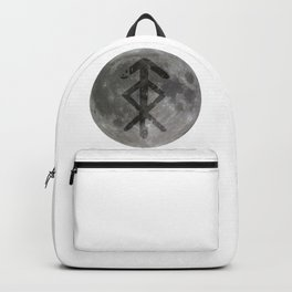 Viking bind rune 'Protection' on moon. Backpack