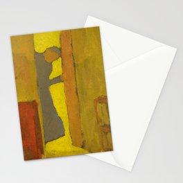 Edouard Vuillard - The Artist's Mother Opening a Door, 1886 Stationery Cards