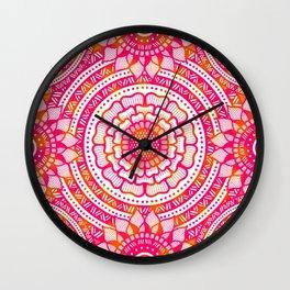 Zentangle flowers pattern Wall Clock
