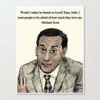 michael scott Canvas Prints featuring Michael Scott by AdrockHoward