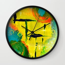 Crooked Lines Wall Clock