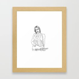 Tom Petty Free Fallin' Framed Art Print